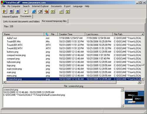 Forensic analysis tools to reconstruct Internet Explorer and user